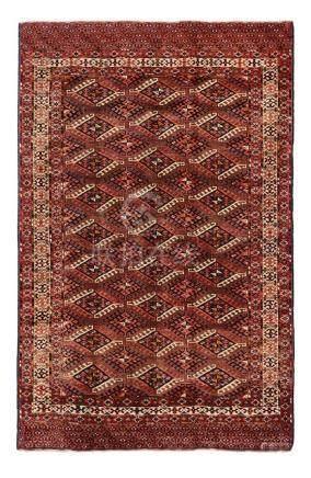 Tappeto Yomut, Turkestan occidentale fine XIX inizio XX