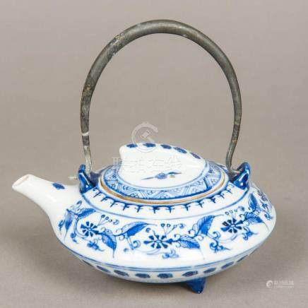 A Chinese blue and white porcelain teapot and cover Decorate