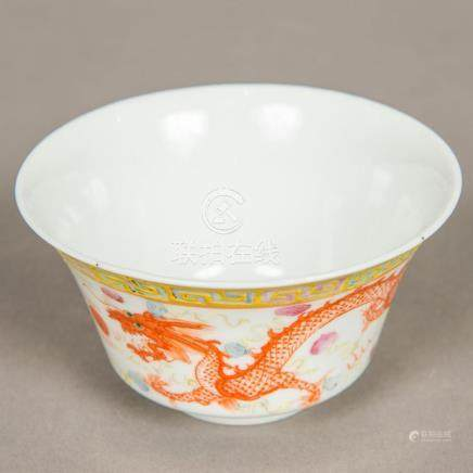 A Chinese porcelain bowl Decorated with a phoenix and five-c