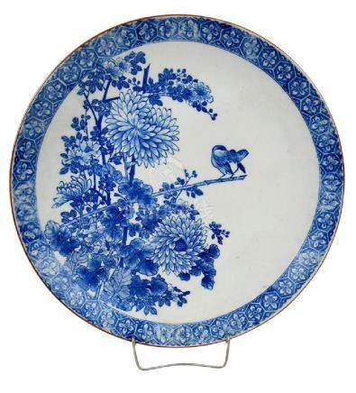 Japanese Blue and White Platter