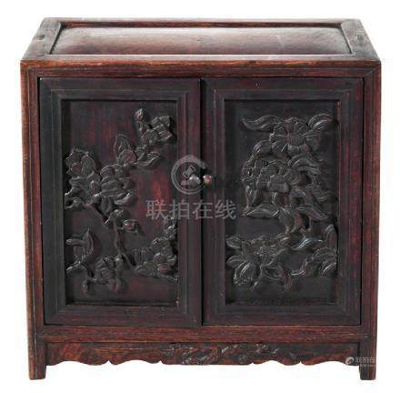 Chinese Miniature Mahogany Chest