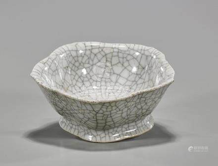 Antique Chinese Crackle-Glazed Bowl