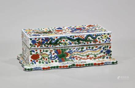 Chinese Enameled Porcelain Covered Box