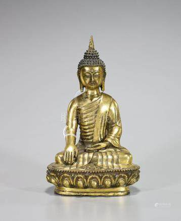 Tibeto-Chinese Gilt Bronze Seated Buddha