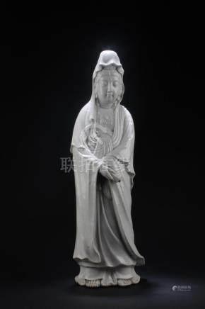 A Japanese Blanc De Chine Guanyin Statue