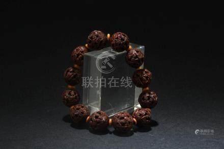 Chinese Walnut Bead Bracelet