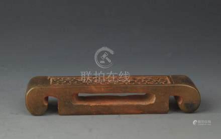 COPY OF FINE OLD JADE SWORD HANDLE