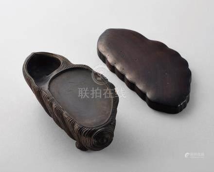 清 海螺形砚