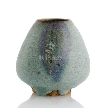 A SMALL JUNYAO VASE, China, Song/Yuan dynasty - Ex. collection Dr. Adam August Breuer (1868-1944), w