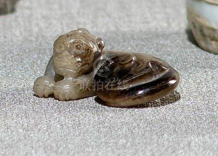 A QILIN JADE CARVING, China, probably Ming dynasty - Property from a German private collection, asse