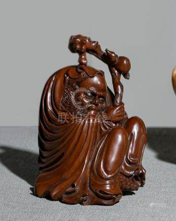 A BOXWOOD CARVING OF LI TIEGUAI, China, late Qing dynasty. - Property from an important private coll