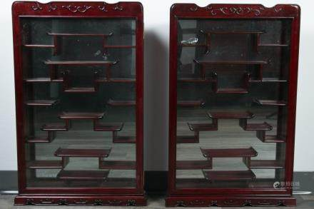 A PAIR OF CHINESE DISPLAY CABINETS