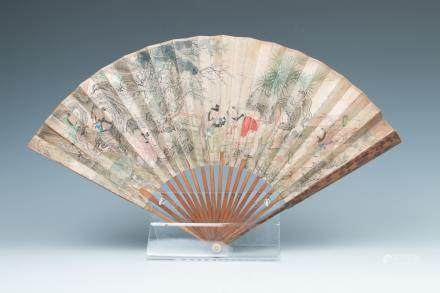 LENG MEI(1669-1742) CHILDREN, FAN