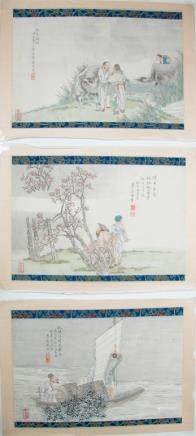 LU QING ZHOU, THREE ALBUM PAGES
