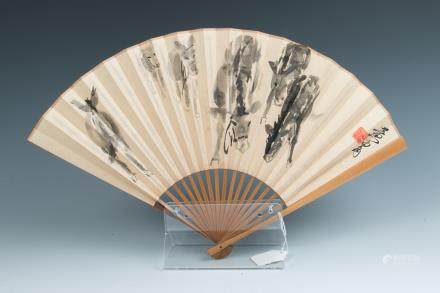 AFTER HUANG ZHOU (1925-1997) & ZHAO PUCHU (1907-2000) , FAN