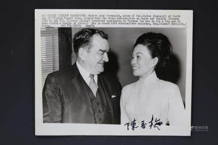 Madame Anna Chennault Chen Xiangmei Signed Photo