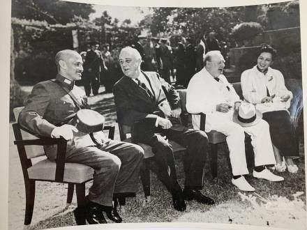 Chiang Kai-shek, Roosevelt, Churchill and Madame Chiang Photo