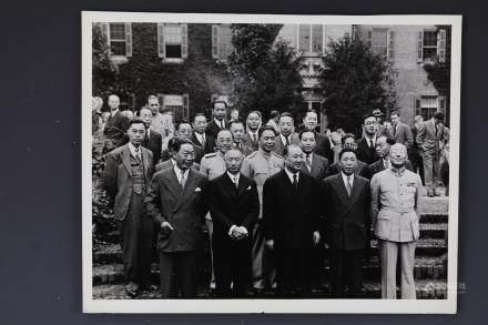 Dr. H.H. Kung and Shang zhen,Gu Weijun, Wei Tao Ming in 1945 Photo