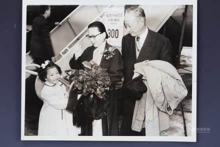 Ambassdor and Madamer Hollington Tong Xian Guang signed