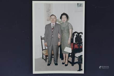 Photo of Kuo Ping-Wen or Guo Bingwen w Ruth Kuo Signed