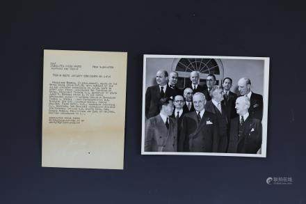President Truman and Chinese Wei Daoming Photo