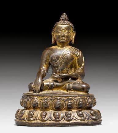 小型銅合金释迦摩尼佛像。