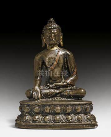 合金銅釋迦摩尼佛像。