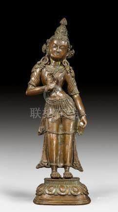 銅聖觀音菩薩像。