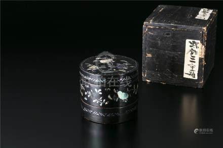 二层螺钿盒