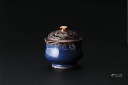 瑠璃釉香炉