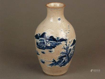 Small baluster vase - China, porcelain with brownish craquel