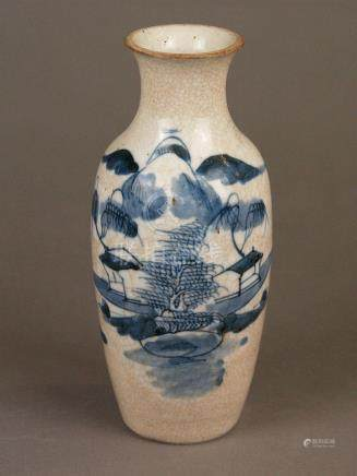 Small baluster vase - China, porcelain with brown-colored cr