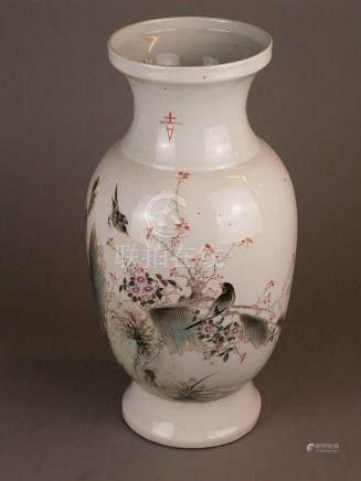 Baluster vase - China 20th century, polychrome onglaze color