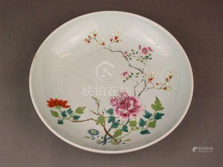 Bowl - China, outgoing Qing Dynasty, porcelain with polychro