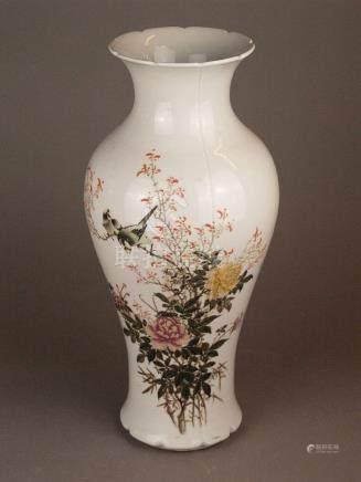 Baluster vase - China 20th century, porcelain with polychrom