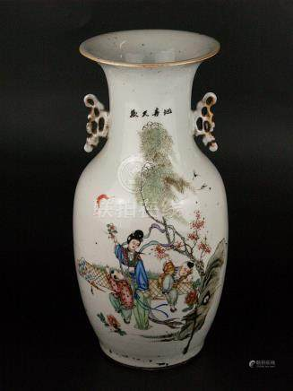 Large baluster vase - China, 1st half of the 20th century, t
