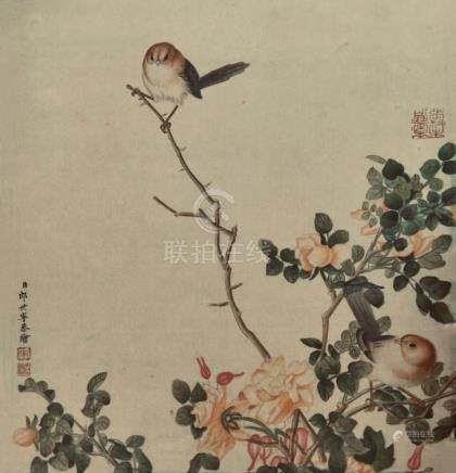 LANG SHINING(1688-1766) | ALBUM LEAF OF BIRDS