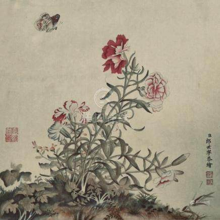 LANG SHINING(1688-1766) | ALBUM LEAF OF BLOSSOMS