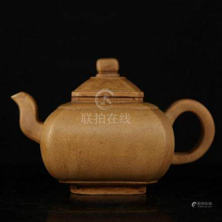 CHINESE OLD BROWN MASTER ZI SHA TEAPOT