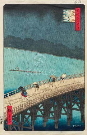 Five Miscellaneous Japanese Wood Block Prints