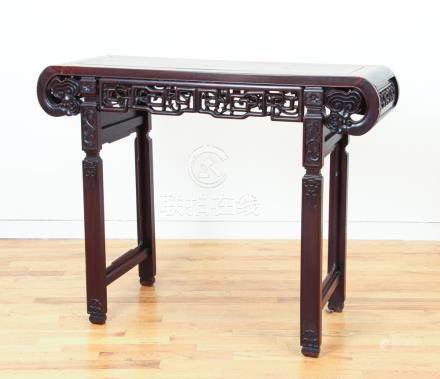 Antique Chinese Exotic Hardwood Altar Form Table