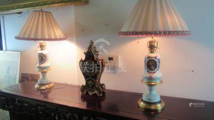 Pair Old. Very Beautiful French Gold Lamp