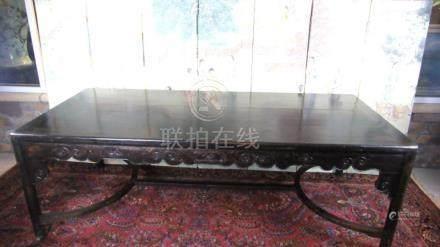 Qing Dynasty Style, Gold Silk Nanmu Painting tab;