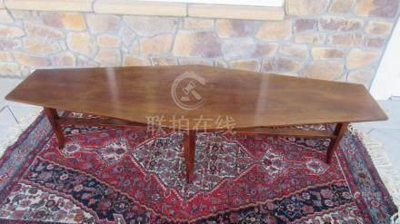 AMid Century Hardwood Italian Coffee table