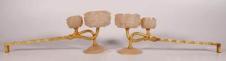 遼代 銅鎏金瑪瑙行燈