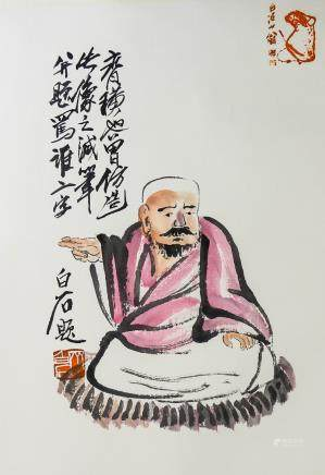 QI BAISHI Chinese 1864-1957 Watercolor Painting