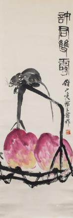 QI BAISHI Chinese 1864-1957 Watercolor