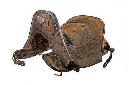 An iron mounted saddle