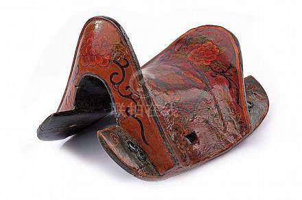 A painted saddle