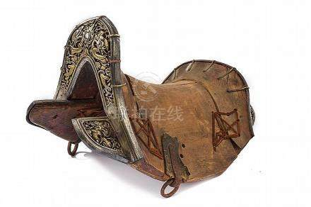 An important saddle with iron mounts